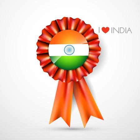 indian flag label design art Vector
