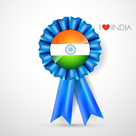 indian flag label design art Vector