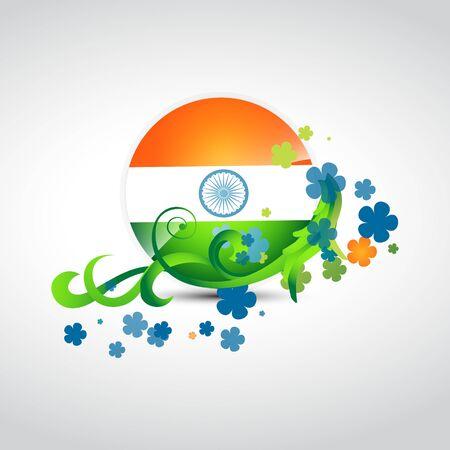 stylish indian flag vector background Illustration