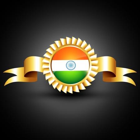 agosto: indiano bandiera creazione di etichette d'oro