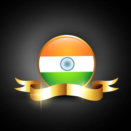 the concept of independence: indian flag golden label design