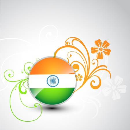 tri color: stylish tri color indian vector background