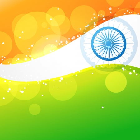 india flag in creative style vector background Vector