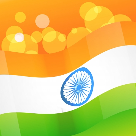 indian vector flag background illustration Vector