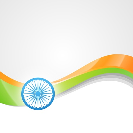 vector indian flag design art Stock Vector - 14693139