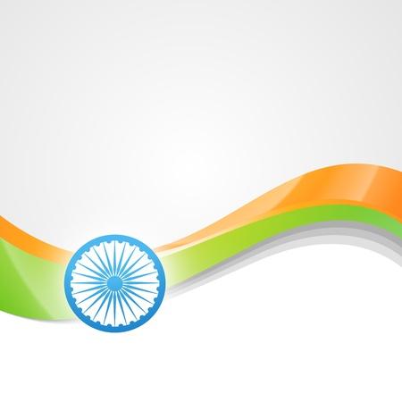 vector indian flag design art Stock Vector - 14693139