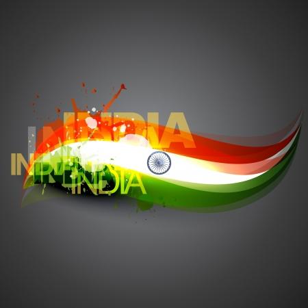 インド: インドの旗ベクトル背景デザイン