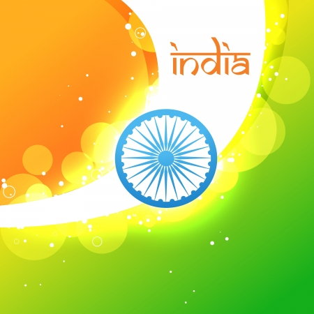 creative indian vector flag glowing background Vector