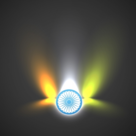 vector indian flag made from lights Vector