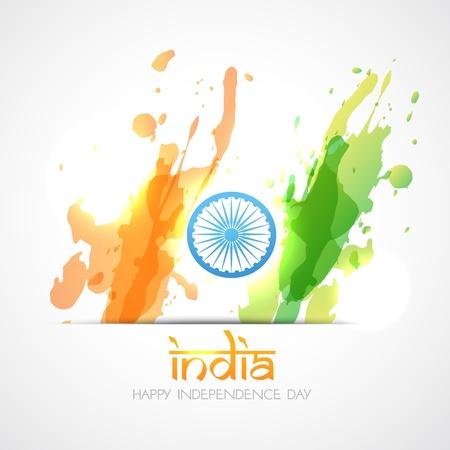 indian flag: vector indian flag in grunge style design Illustration
