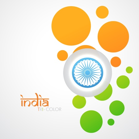 creative indian flag vector design Vector
