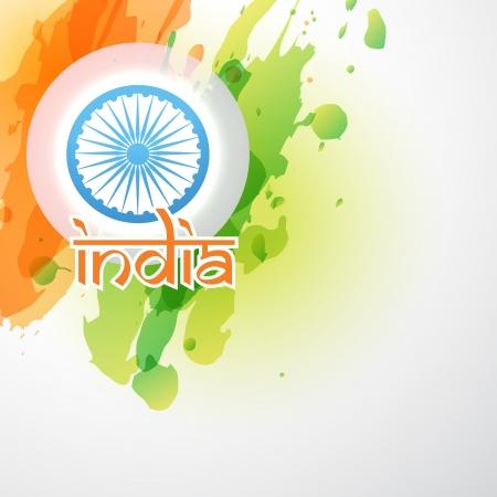 bandiere del mondo: vettore di bandiera indiana nel design stile grunge