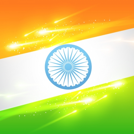 national colors: beautiful indian flag in glowing design