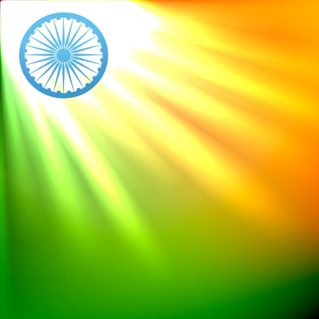 the concept of independence: beautiful indian flag in glowing design