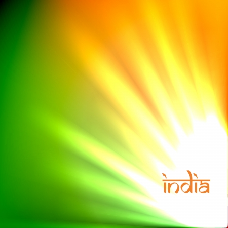 beautiful indian flag tri color design art Stock Vector - 14693135