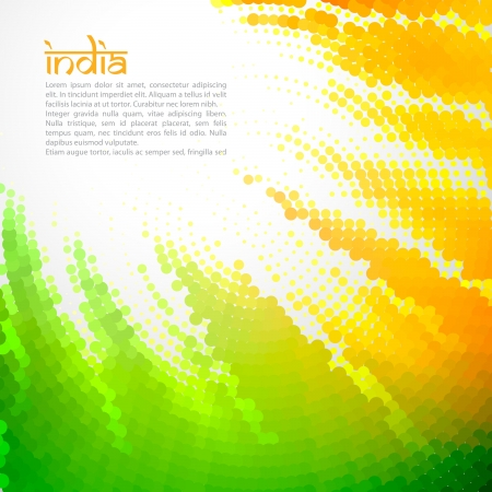 republic day: vector creative indian flag design art Illustration