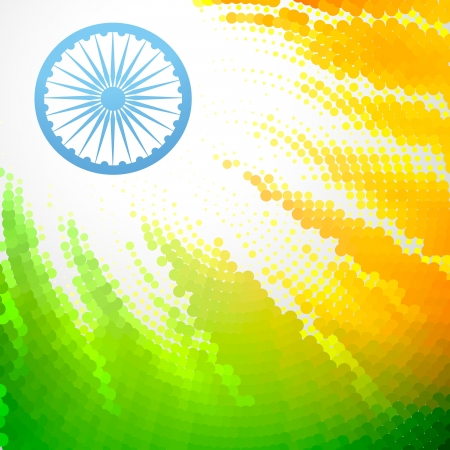 bharat: creative indian flag vector design
