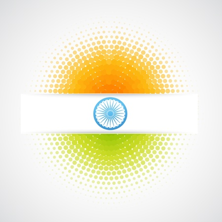 15 august: vector indian flag design art Illustration