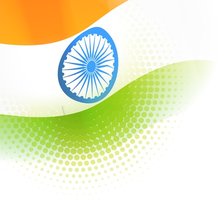 indian art: indian flag vector background design