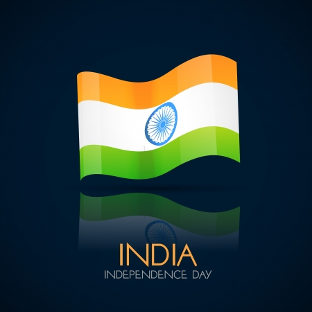 vector indian flag design art Stock Vector - 14688265