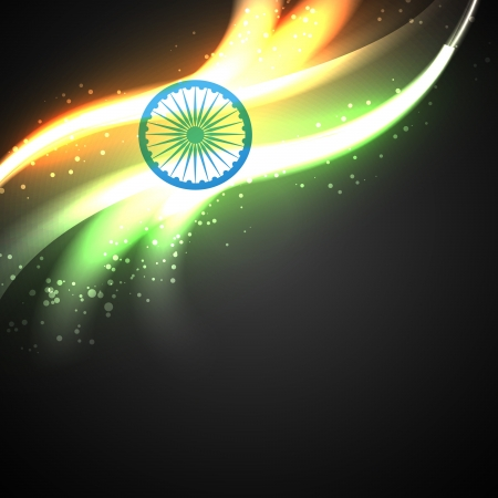 bharat: shiny indian flag vector design art