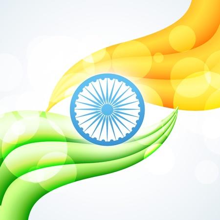 stylish indian vector flag design art