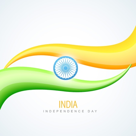 creative wave style indian flag design