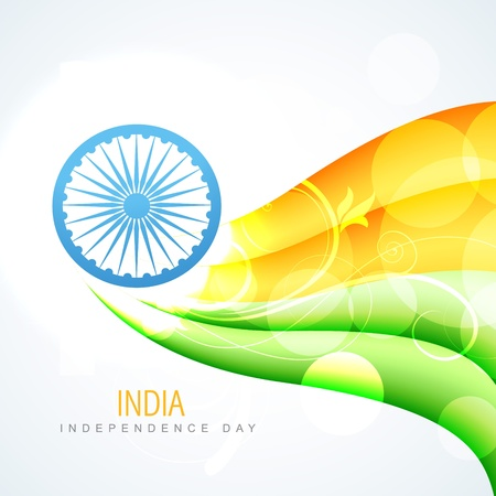 republic day: beautiful glowing india flag vector design