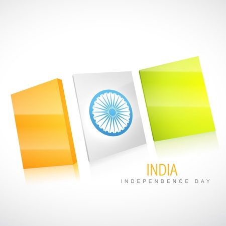 15 august: creative style indian flag vector design Illustration