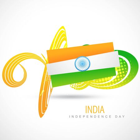 creative indian vector flag background Stock Vector - 14693128