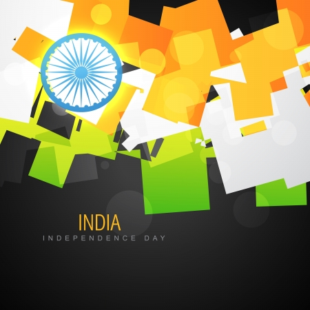 bharat: vector creative indian flag design art Illustration