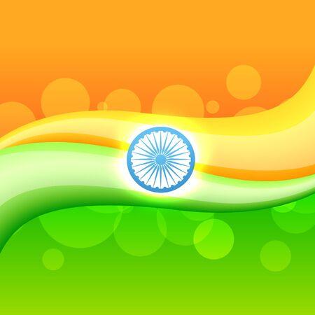 world heritage: creative indian flag headers design Illustration