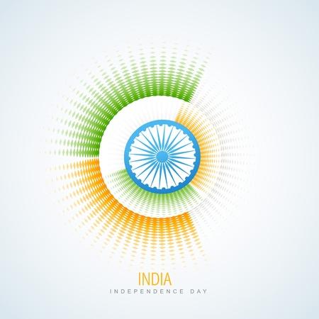 agosto: creative bandiera stile indiano disegno vettoriale Vettoriali