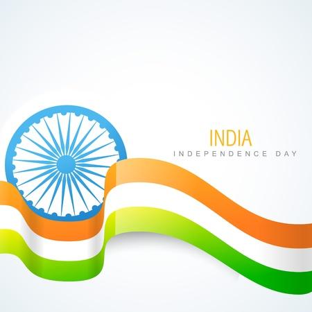 drapeau inde: �l�gant art indien de dessin vectoriel drapeau