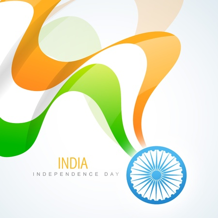 indian art: beautiful indian vector flag design art