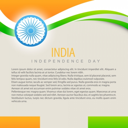 aug: beautiful indian vector flag design art