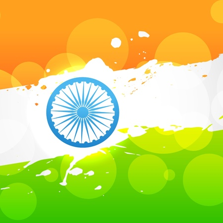 bharat: indian flag vector design art