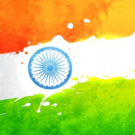 nacional: bandera de la India en fondo del grunge style vector