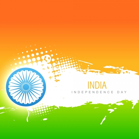 bharat: vector indian flag design art Illustration