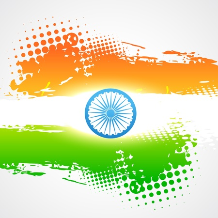 bharat: stylish indian flag vector background Illustration