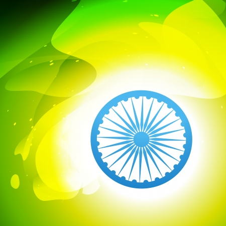 indian flag in wave style vector background Vector