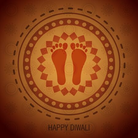 diwali festival shubh foot impression Stock Vector - 15656229