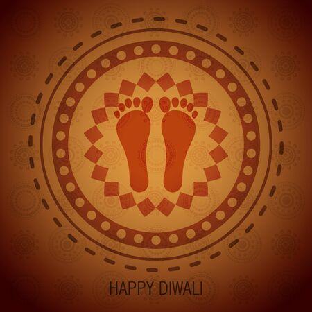 shubh diwali: diwali festival shubh foot impression