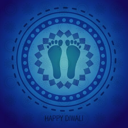 happy diwali background illustration Vector