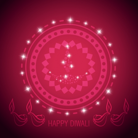 stylish diwali diya vector design Vector
