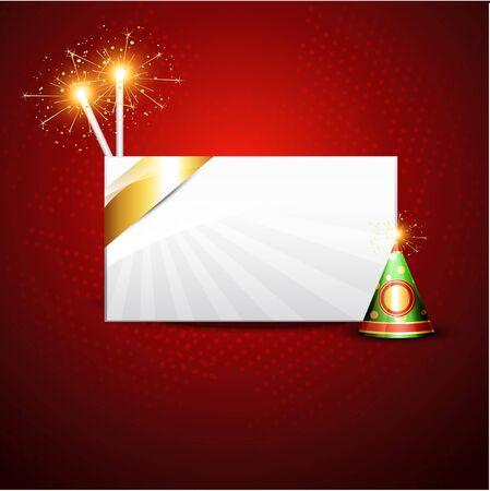 stylish artistic diwali crackers background design Stock Vector - 15656316