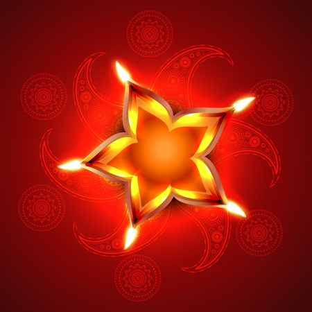 stylish artistic happy diwali vector background design Stock Vector - 15656213