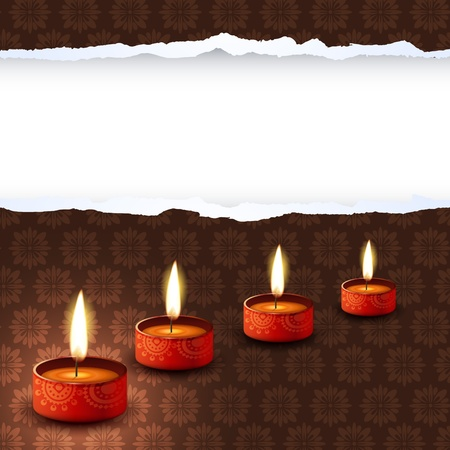 beautiful indian festival diwali design Vector