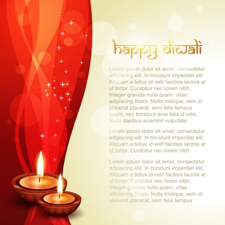 beautiful diwali diya with space for your text Stock Vector - 15656319