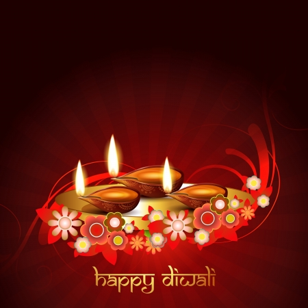 stylish artist diwali festival vector background Vector